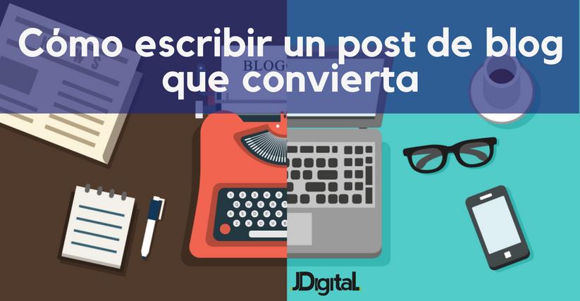 como escribir un post de blog