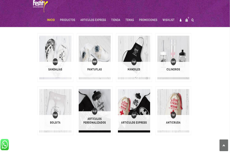 Diseño de Sitio web, Festity, Agencia Marketing Digital
