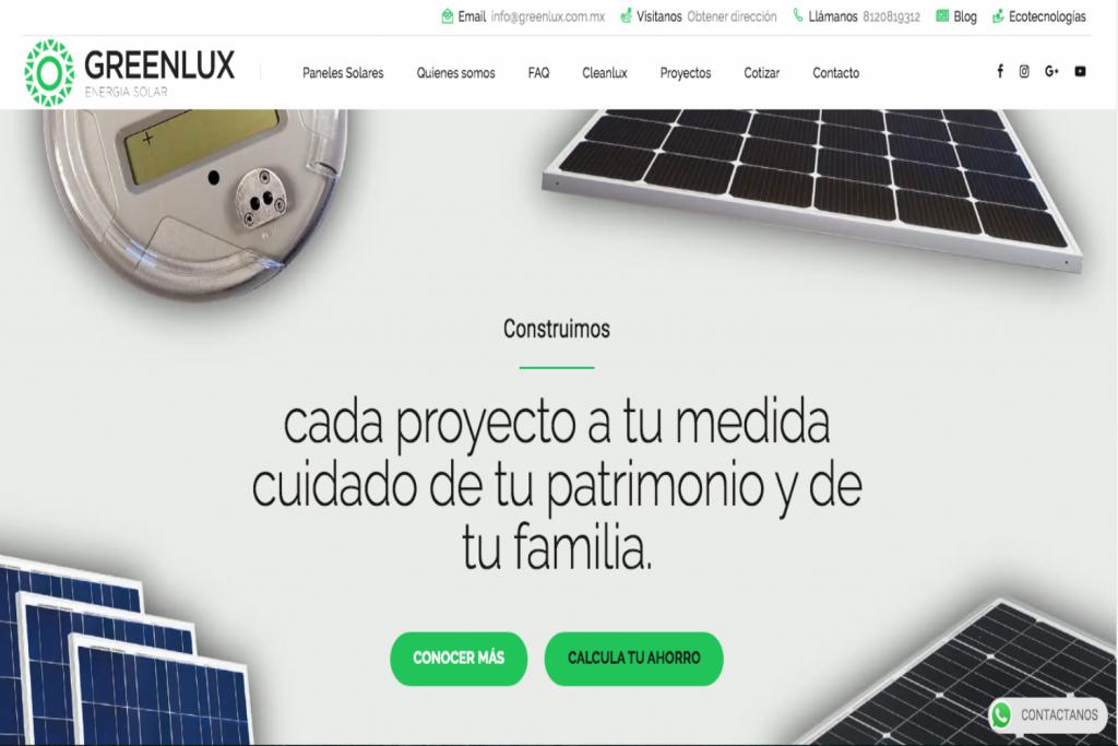 Posicionamineto SEO, Paneles Solares en Monterrey, GreenLux, Agencia de Marketing Digital