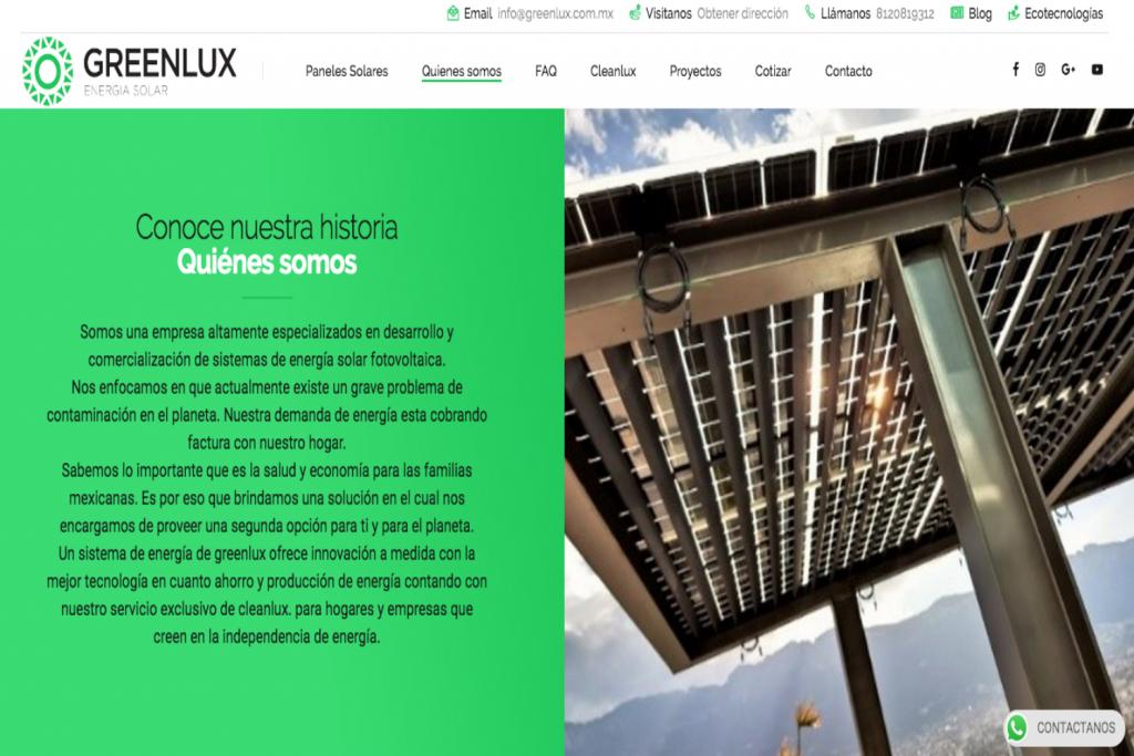 Quienes somos, Paneles solares en Monterrey, GreenLux