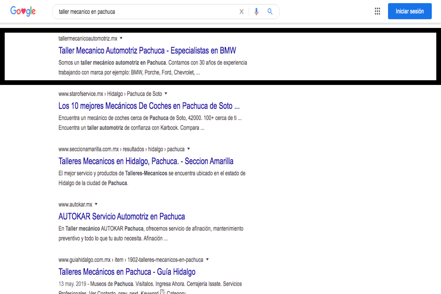 Posicionamiento SEO, Taler Mecánico, Agencia Marketing Digital