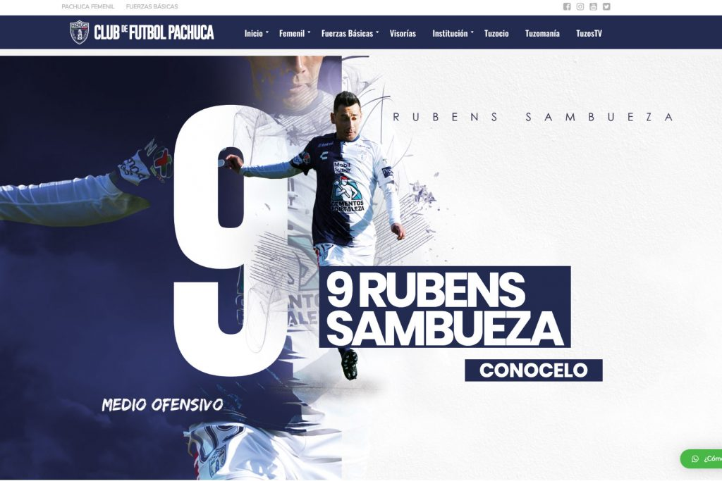 Club de Futbol Pachuca, Diseño web, Agencia Marketing Digital