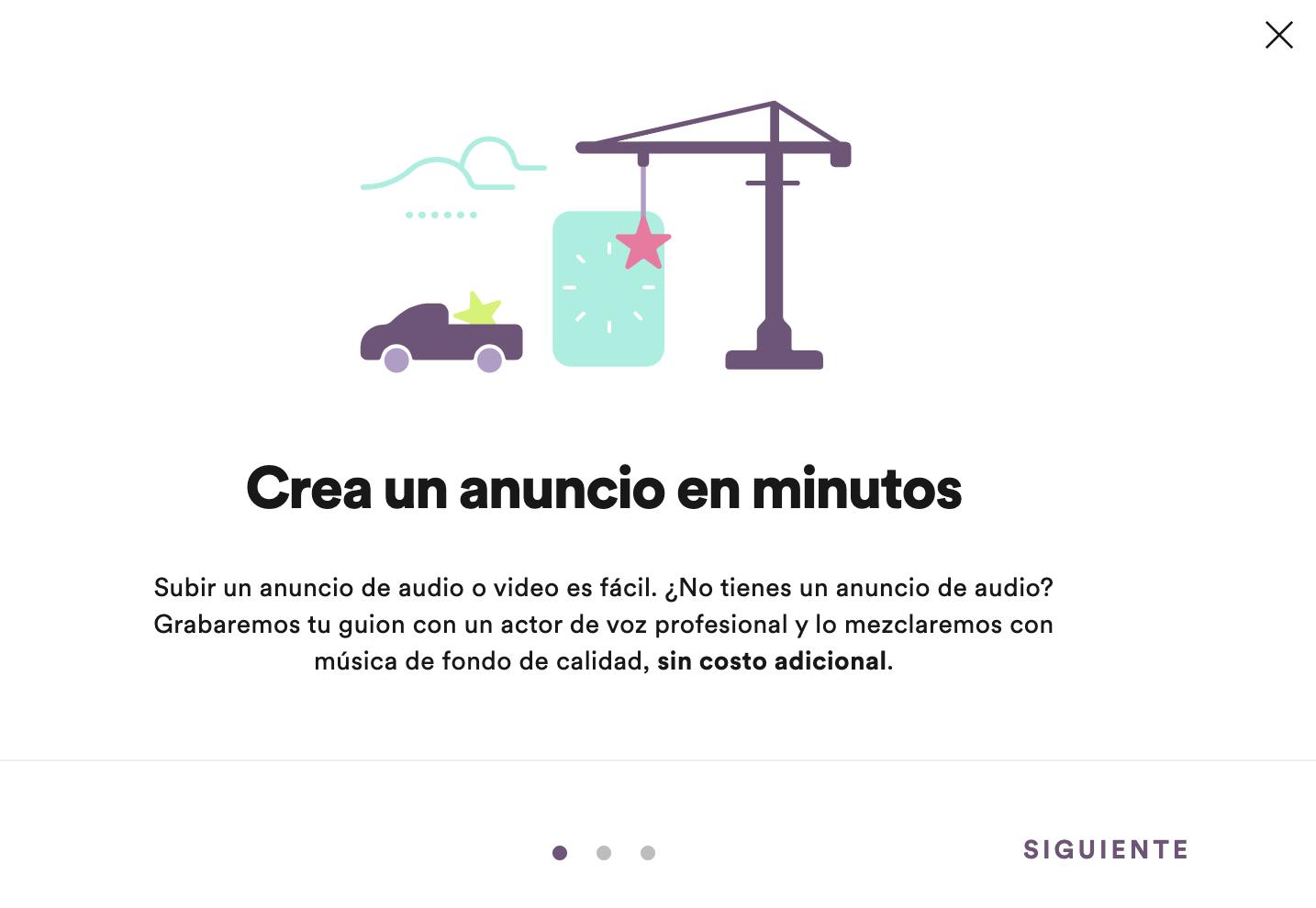Crea anuncios en Spotify en minutos