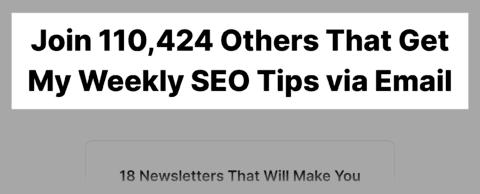 Backlinko – Newsletter Subscribers