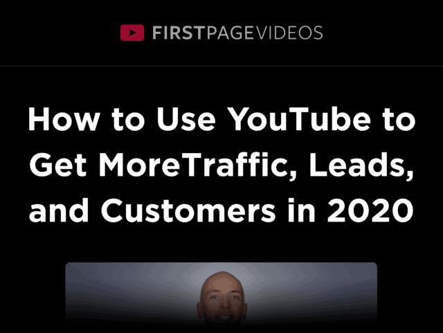Firstpagevideos – Sales Page Headline